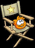 Orange PuffleChair