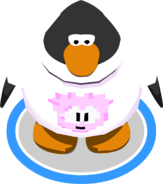 Pink Pixel Puffle Tee in-game