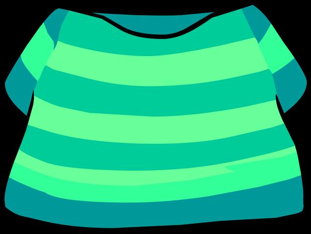 File:Aqua Striped Shirt clothing icon ID 4262.png