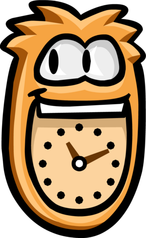 File:Orange Puffle Clock No background.png