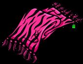 Pink Zebra Scarf