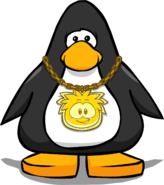 Gold Puffle Chain from a Player Card