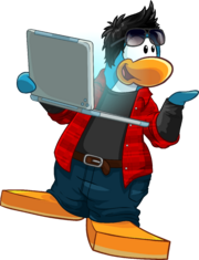 Laptop Penguin