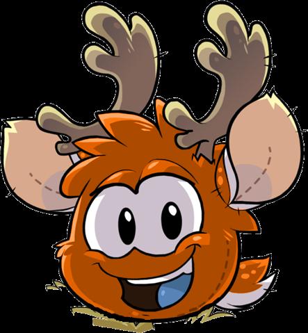 File:OrangePuffle Orange Reindeer Puffle.png