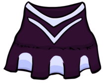 Purple cheerlading outfit