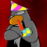 Annoying Old Party Penguin image