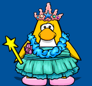 Penguin with Coral Crown