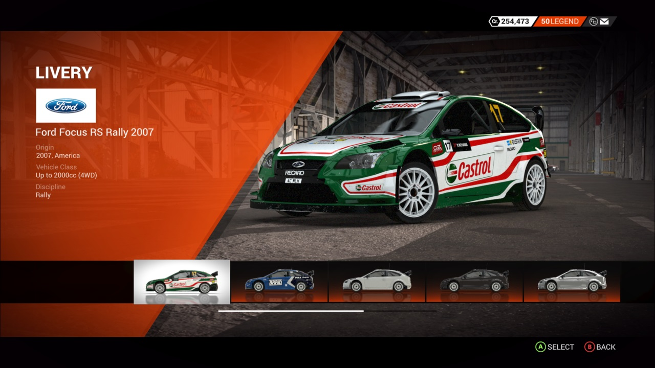 DiRT 4 Ford Focus RS Rally 2007