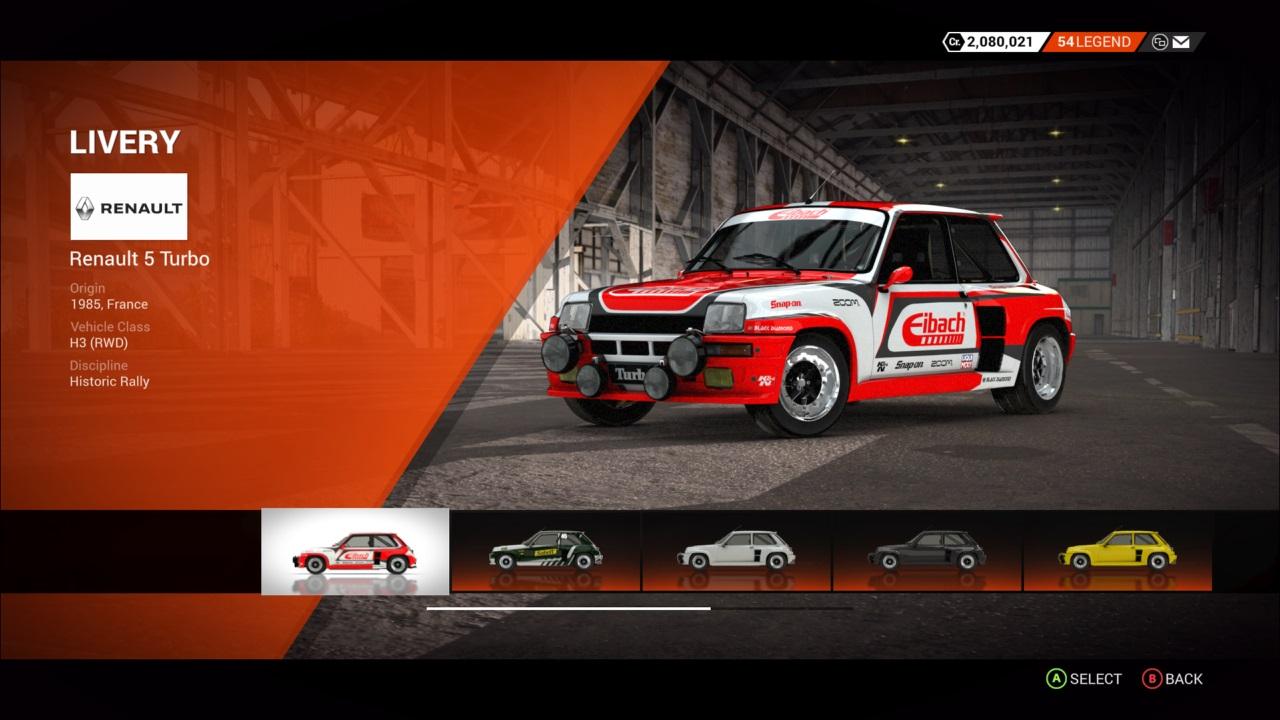 DiRT 4 Renault 5 Turbo