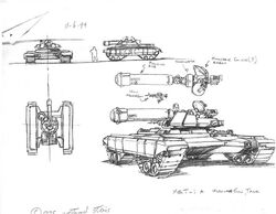 CNCTD MGT-1A microwave gun tank concept art