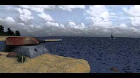 C&C Tiberian Dawn - Gunboad Blowing Up Turret