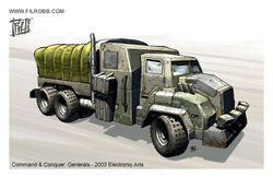 GLA Supply Truck concept art