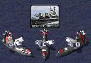 Aegis Cruiser in Action