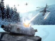 RA1 Hind attack Mammoth Tank
