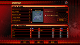 Red Alert 3 Skirmish Settings