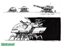 RA2 Soviet spider tank