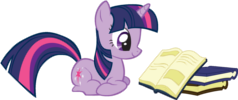File:FANMADE Twilight Sparkle reading a book small.png
