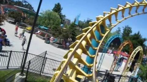 Corkscrew (Michigan's Adventure) - OnRide (480p)