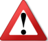 Warning triangle red