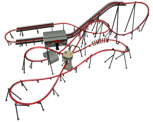 X-Flight track layout