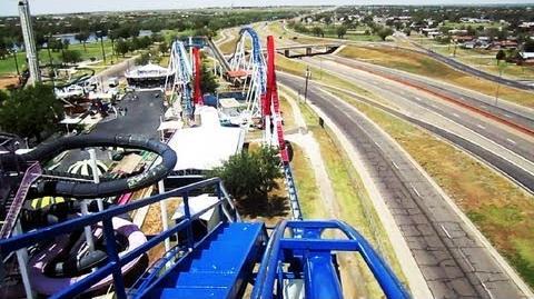 Texas Tornado front seat on-ride HD POV Wonderland Amusement Park