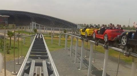 Fiorano GT Challenge Racing Roller Coaster POV Ferrari World Abu Dhabi UAE