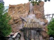 Runaway Mountain entrance waterfall