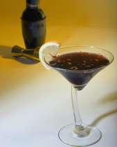 Black martini gold