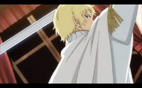 Maximillion wielding a sword