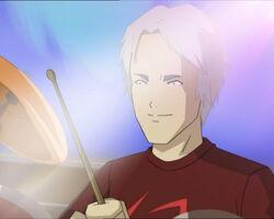 Chris drumming
