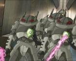 Robots attacking