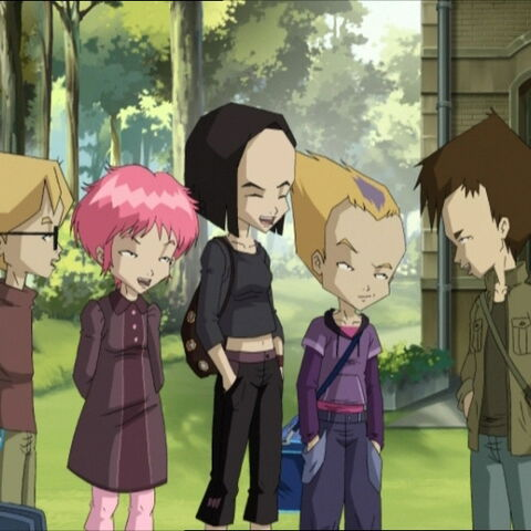 Lyoko-Warriors except Yumi and Jeremy go to the Louvre art museum.