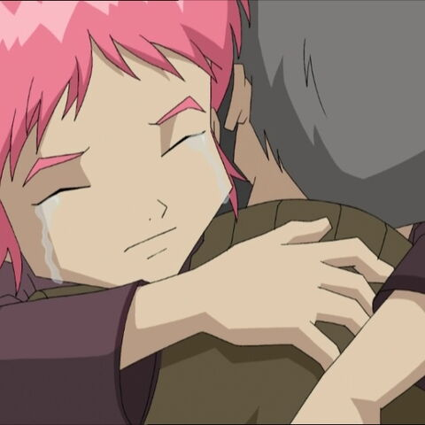Aelita sayind goodbye to Franz Hopper before returning to the future.