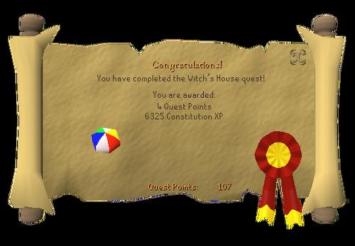 Witchs House Reward