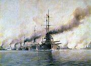 Austro-Hungarian fleet on maneuvers.jpg