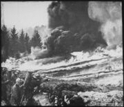 French soldiers making a gas and flame attack on German trenches in Flanders. Belgium., ca. 1900 - 1982 - NARA - 530722.tif.jpg