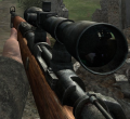 Kar98k, scoped. CoD2