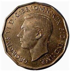GBP 3 Pence GVI