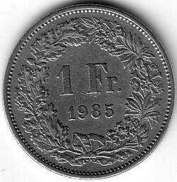 CHE CHF 1985 1 Franc