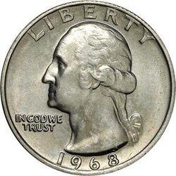 USD 1968 25 Cent