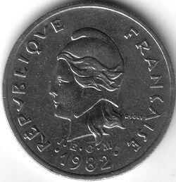 CFP 1982 10 Franc