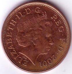 GBP 2001 2 Pence