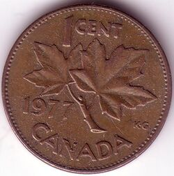 CAN CAD 1977 1 Cent
