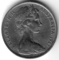 AUS AUD 1967 10 Cent