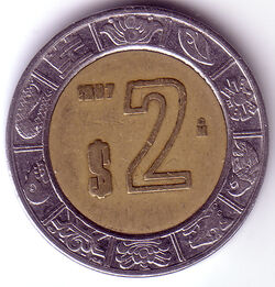 MXN 1997 2 Peso