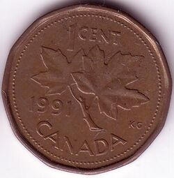 CAN CAD 1991 1 Cent