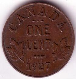CAN CAD 1927 1 Cent