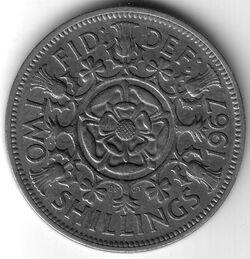 GBP 1967 2 Shilling