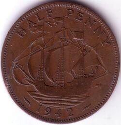GBP 1942 0.5 Penny