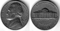 USD 1961 5 Cent D